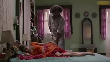 Indian devar masterbating on sleeping bhabhi legs cum on leg